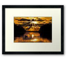 Xmas Sunrise Framed Print