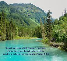 God is Our Refuge Psalm 62:8 by hummingbirds