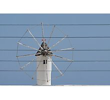 Wind and wire. Photographic Print