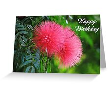 Happy Birthday greeting card and gifts (silk flower) Greeting Card