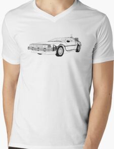 DeLorean DMC-12 Mens V-Neck T-Shirt