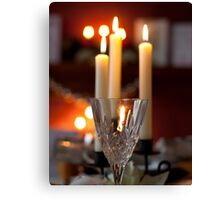 crystal and candles Canvas Print
