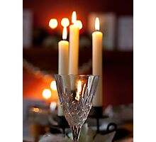 crystal and candles Photographic Print