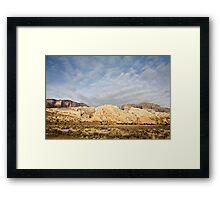 Split Mountain Goldenlight Framed Print
