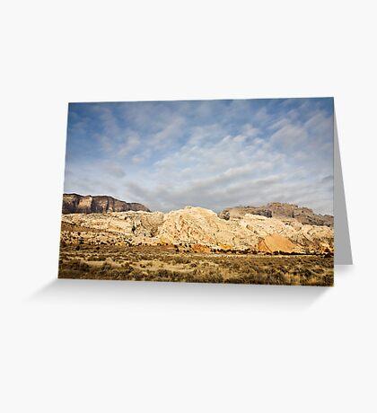 Split Mountain Goldenlight Greeting Card