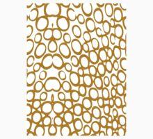 Gold Circle Ring Pattern Kids Tee