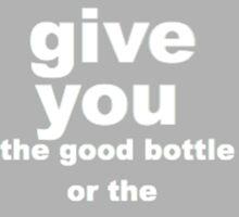 Sherlock, Good Bottle or Bad Bottle? Sticker