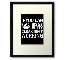 Harry Potter  - Invisibility Cloak Malfunction [Dark Edition] Framed Print
