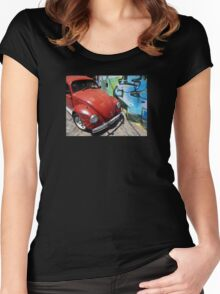 v-dub valparaiso chile Women's Fitted Scoop T-Shirt