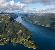 Swooping Into the Fjord by Kristin Repsher