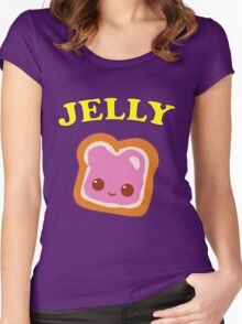 Couple - (Peanut Butter &) Jelly Women's Fitted Scoop T-Shirt