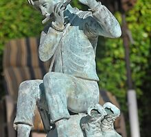 BAREFOOT BOY WITH FLUTE by JAYMILO