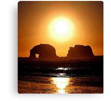 BLAZING SUN Canvas Print
