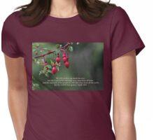 Fuschia Tears Isaiah 25:8 Womens Fitted T-Shirt