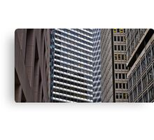 The Financial District in Windows Canvas Print