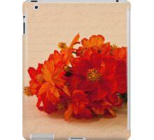 Orange Zinnias iPad Case/Skin