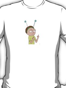 Rick and Morty-- Morty Middle Finger T-Shirt