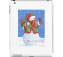Cute snowman, birdhouse and cardinal iPad Case/Skin