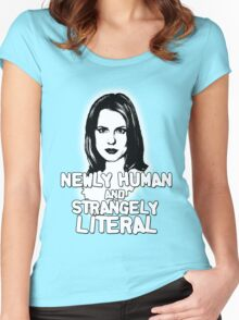 ANYA JENKINS: newly human, strangely literal Women's Fitted Scoop T-Shirt