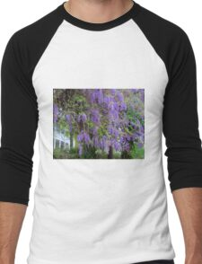 Purple Flower Tree Men's Baseball ¾ T-Shirt