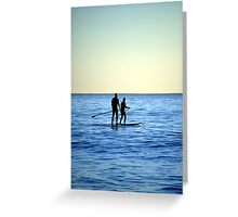 stand up. Greeting Card