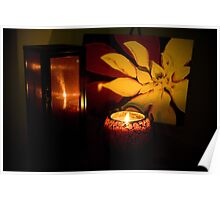 Love by candle light Poster