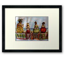 My sisters apron - Christmas Tasmania Framed Print