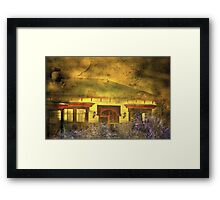 """""""The Little Old Cottage ..."""" Framed Print"""