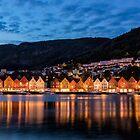 Night Falls On Bryggen by Kristin Repsher