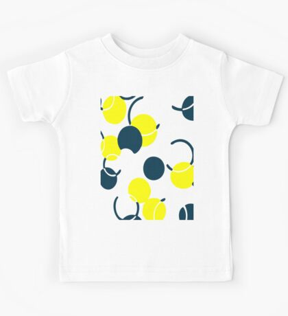 Yellow Ball Pattern Kids Tee