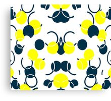 Yellow Ball Pattern Canvas Print