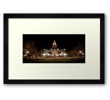 Colorado State Capitol Building at Night Framed Print