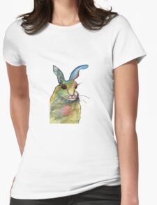 Amazing Cheerful Bunny Womens Fitted T-Shirt