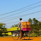 Man on a bicycle in Nairobi, KENYA by Atanas Bozhikov NASKO