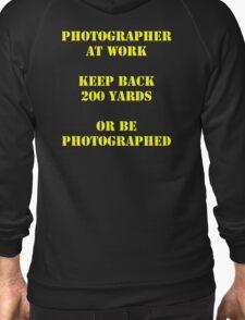 Photographer at work Zipped Hoodie