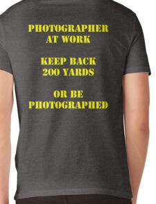 Photographer at work Mens V-Neck T-Shirt
