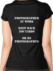 Photographer at work Women's Fitted Scoop T-Shirt