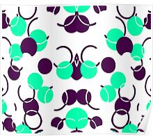Green Turquoise Ball Pattern Poster