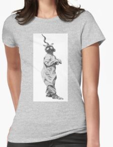 Unicorn Hybrid Gas Mask Womens Fitted T-Shirt