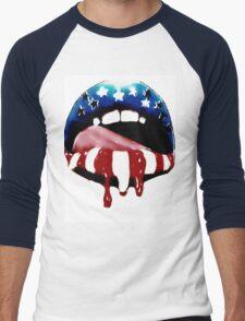 USA Lucious Lips  Men's Baseball ¾ T-Shirt