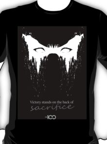 Victory stands on the back of sacrifice T-Shirt