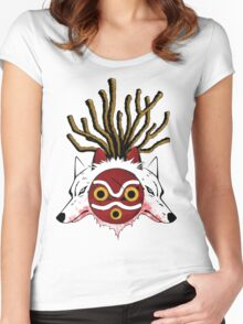 Wolf Princess (Color) Women's Fitted Scoop T-Shirt