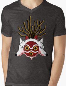 Wolf Princess (Color) Mens V-Neck T-Shirt