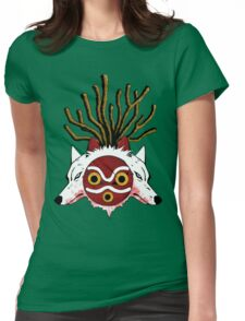 Wolf Princess (Color) Womens Fitted T-Shirt