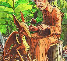 elf sculpting gargoyle by frey  micklethwait