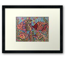 All the Little Fishies in the Sea Framed Print