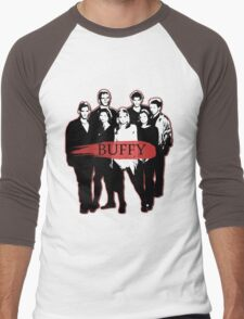 BTVS CAST (S3): The Scoobies! Men's Baseball ¾ T-Shirt