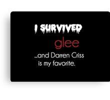 I survived Glee (Darren Criss) Canvas Print