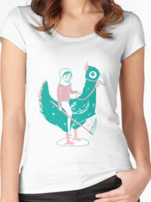 Lady Death upon her Noble Steed Women's Fitted Scoop T-Shirt