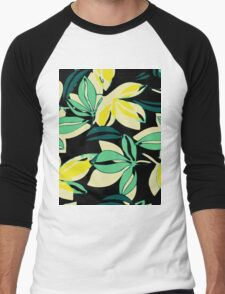 Leaf and Flowers Men's Baseball ¾ T-Shirt